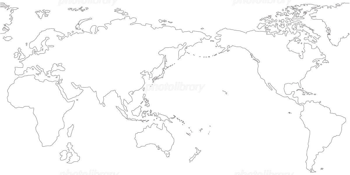 World Map blank map イラスト素材