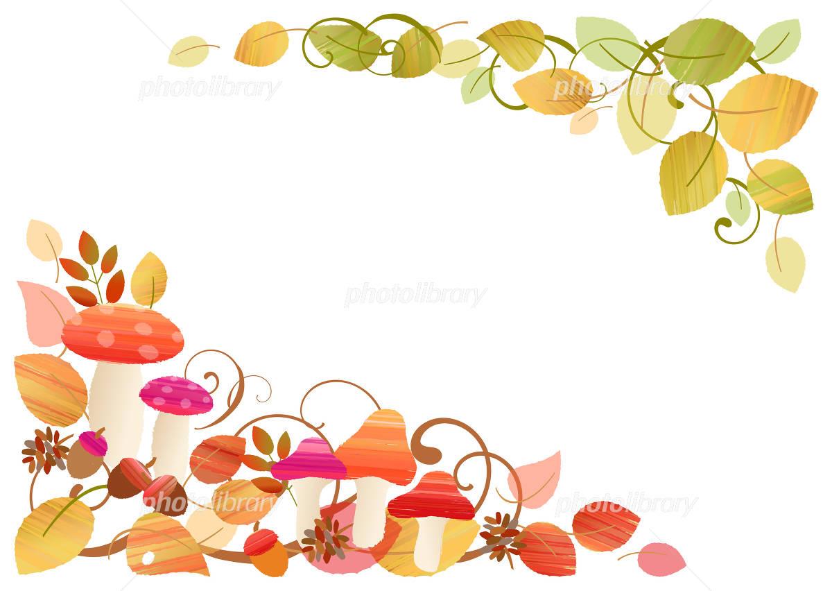 秋の可愛いフレーム イラスト素材 3929399 フォトライブラリー