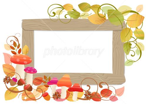秋の可愛いフレーム イラスト素材 3929401 フォトライブラリー