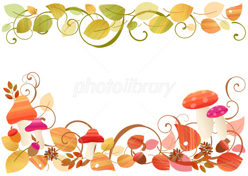 秋の可愛いフレーム イラスト素材 3929406 フォトライブラリー