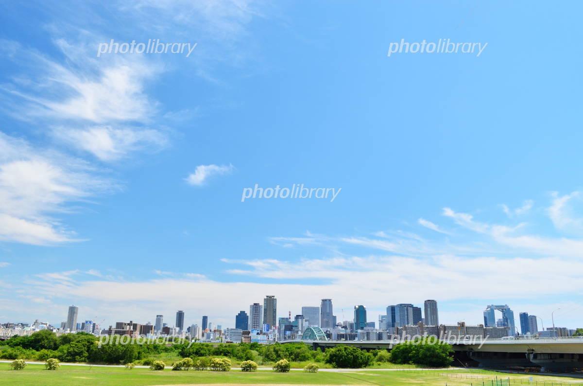 Shin-yodogawa Ohashi and Umeda skyscrapers Photo