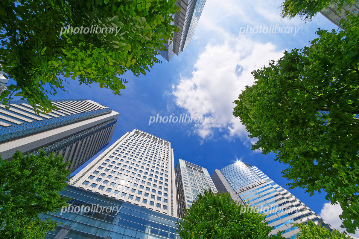 Shinagawa Intercity and the Shinagawa Grand Commons and blue sky Photo