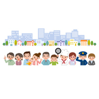 People Cityscape set a collection of regional [3925341] My