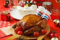 Roast chicken Stock photo [3926460] Christmas