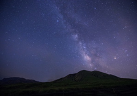 Aso and the Milky Way Stock photo [3929549] Kumamoto
