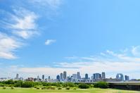 Shin-yodogawa Ohashi and Umeda skyscrapers Stock photo [3930575] Shin-yodogawa