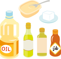 Salad oil and butter, cooking oil [3932547] Oil