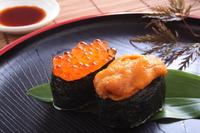 Warship sushi stock photo