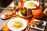 Fettuccine pumpkin cream Stock photo [4016738] Italian