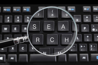 SEARCH the keyboard and loupe Written Stock photo [4099508] the