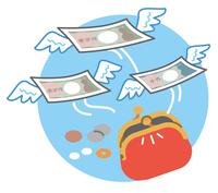 Money purse splurge illustrations [4103424] Household