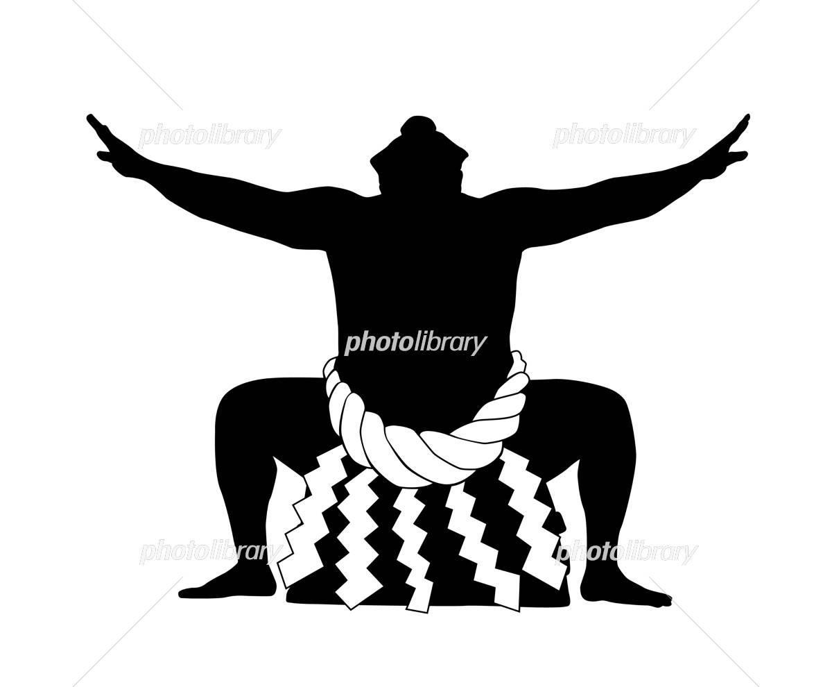 Sumo silhouette イラスト素材