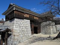 Iyo Matsuyama Castle drum Gate Stock photo [4158382] Matsuyama