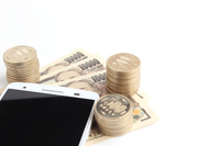 Smartphone and money Stock photo [4163112] Smartphone