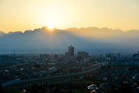 Sunrise from 剱岳 seen from Kurehayama Stock photo [4166725] Morning