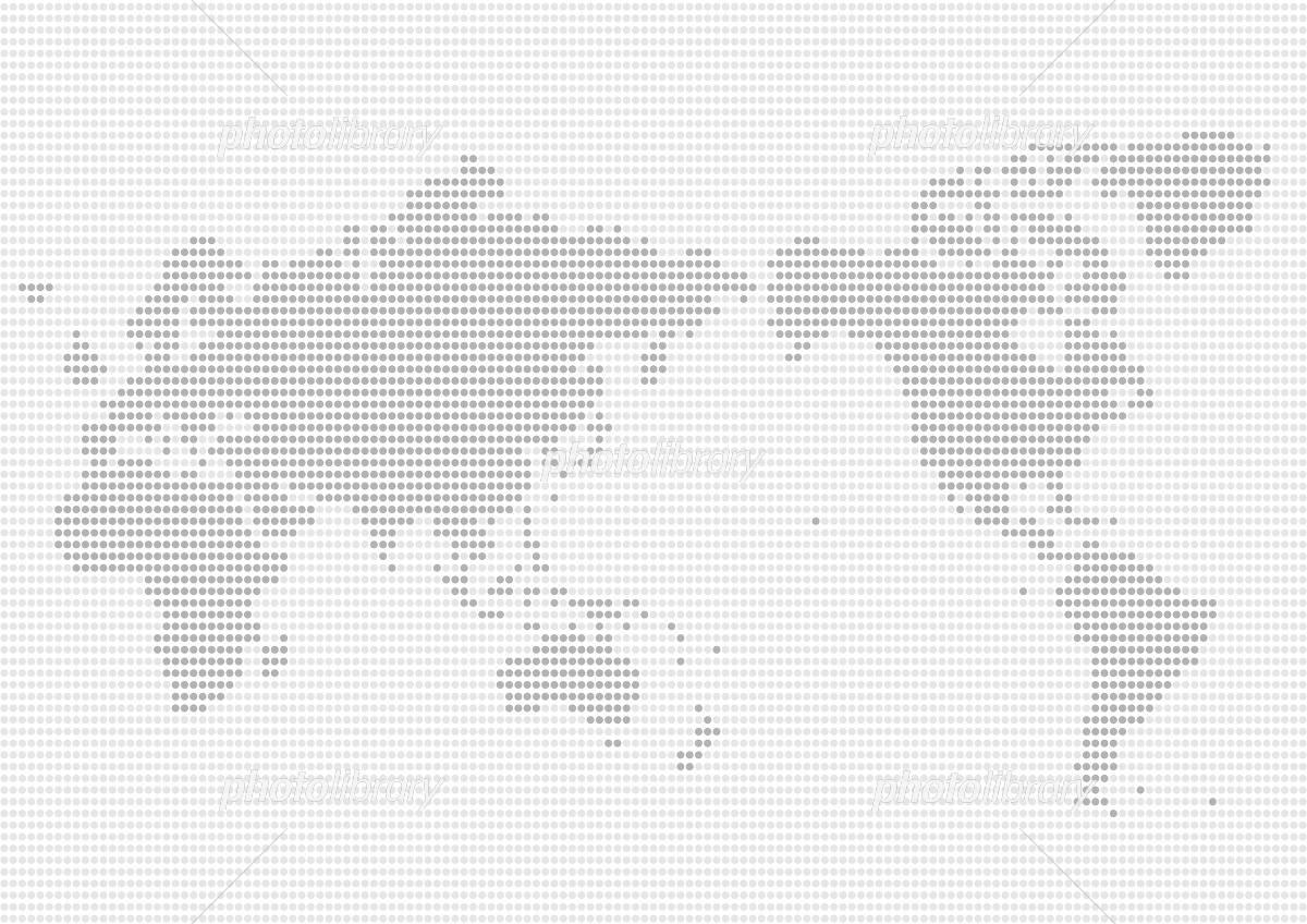 世界地図 ドット イラスト グレー(日本中心)