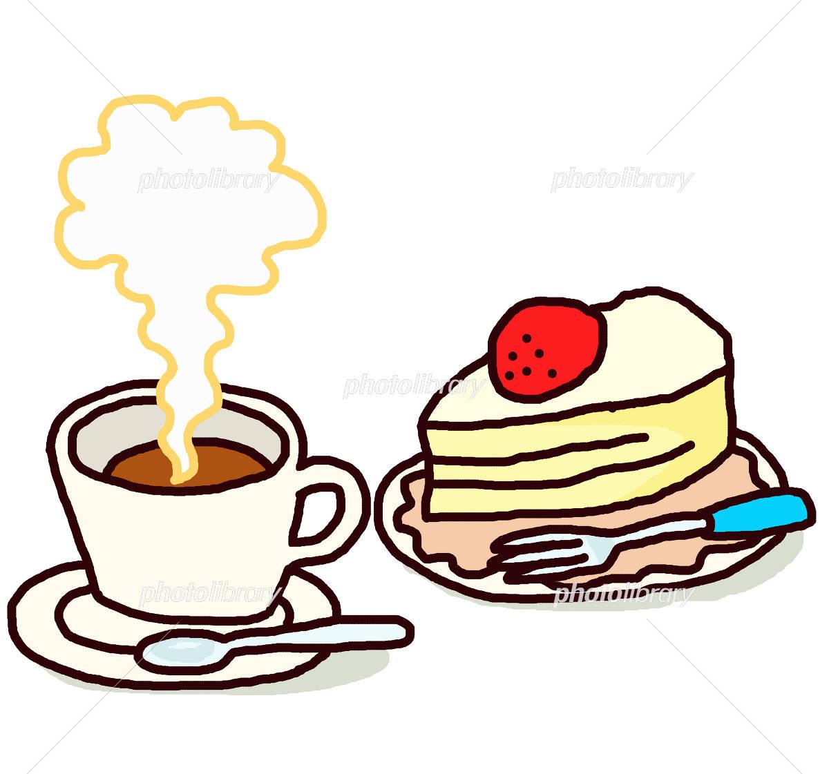 コーヒーとケーキ イラスト素材 4337742 フォトライブラリー