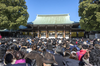 New Year's visit to a Shinto shrine Stock photo [4332866] New