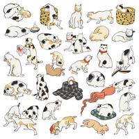 Kuniyoshi Utagawa 其 remain paronomasia cat 飼好 fifty-three 疋 image illustrations of [4335267] An