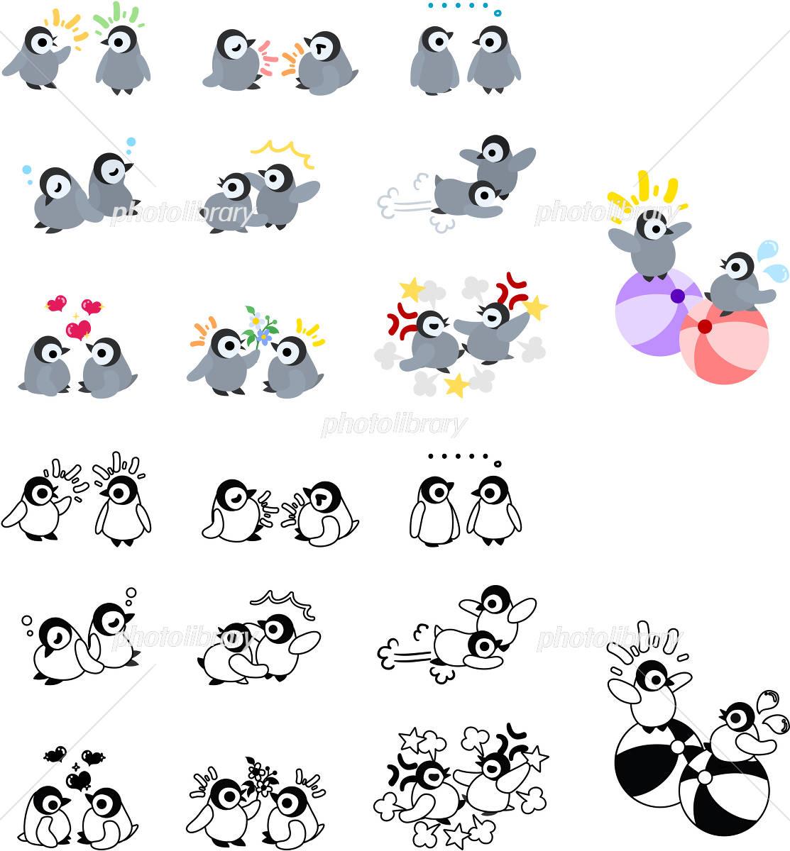 可愛い赤ちゃんペンギンのアイコン イラスト素材 フォトライブラリー Photolibrary