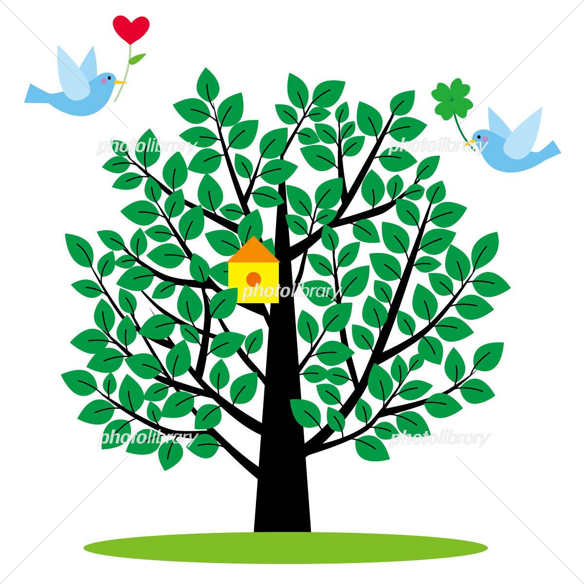 小鳥と樹 イラスト素材 4409428 フォトライブラリー Photolibrary