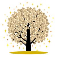Tree made of money [4403242] money