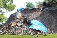 Kumamoto earthquake collapsed stone wall Stock photo [4410105] Kumamoto