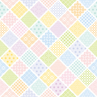 Colorful background of arranging the Japanese traditional pattern-filled square [4410133] Rhombus