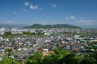 Fukushima city from Bentenyama Stock photo [4411653] Fukushima