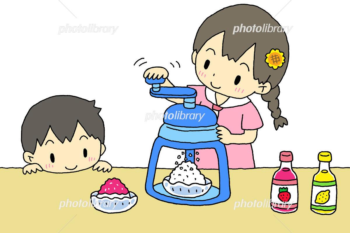 かき氷器 子供 イラスト素材 4490792 フォトライブラリー Photolibrary