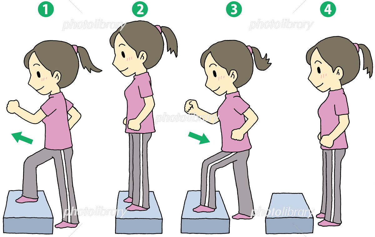 踏み台昇降運動 女性 イラスト素材 [ 4492851 ] - フォトライブラリー ...
