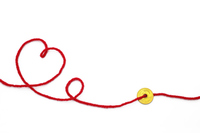 Red string Stock photo [4487577] heart