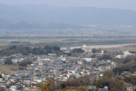 Yoshino Town and Kawashima castle as seen from the Uesakura Castle Ruins (Nishinomaru) Stock photo [4489976] Ruins