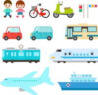 Transportation, vehicle illustrations set [4496948] vehicle