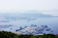 Sasebo Port from Yumihari Stock photo [4497177] Nagasaki