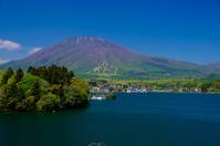 Lake Nojiri and Kurohime Stock photo [4500603] Lake