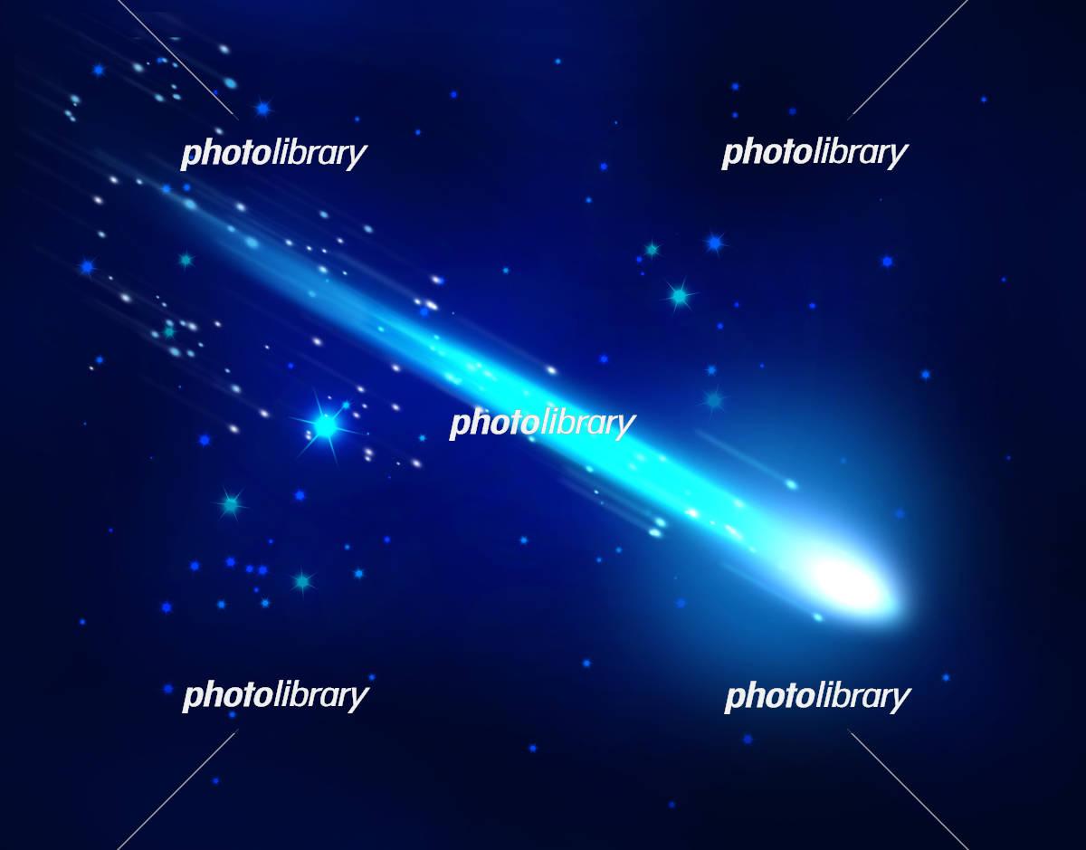 夜空と流星 イラスト素材 4568401 フォトライブラリー Photolibrary