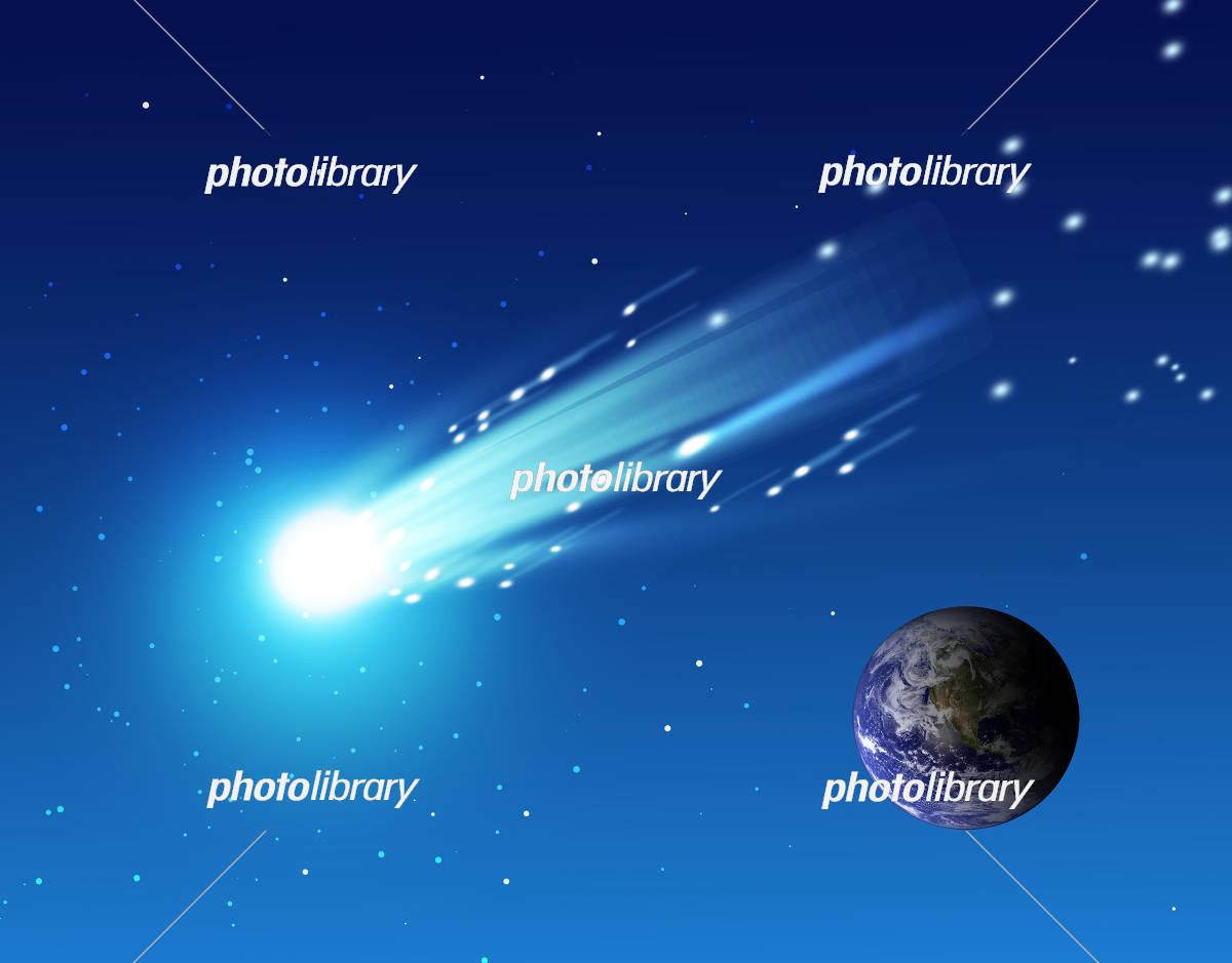 地球と流星 イラスト素材 4568402 フォトライブラリー Photolibrary