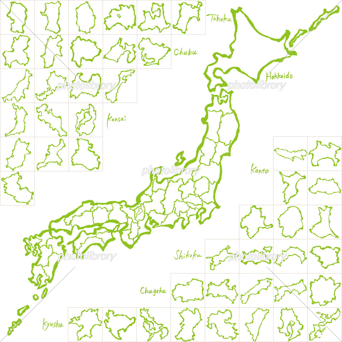 日本 地図 都 道府県