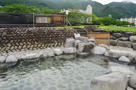 Open-air bath of Gero hot springs Stock photo [4573659] Gero