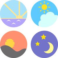 Morning, noon, evening, night of icon [4574888] Morning