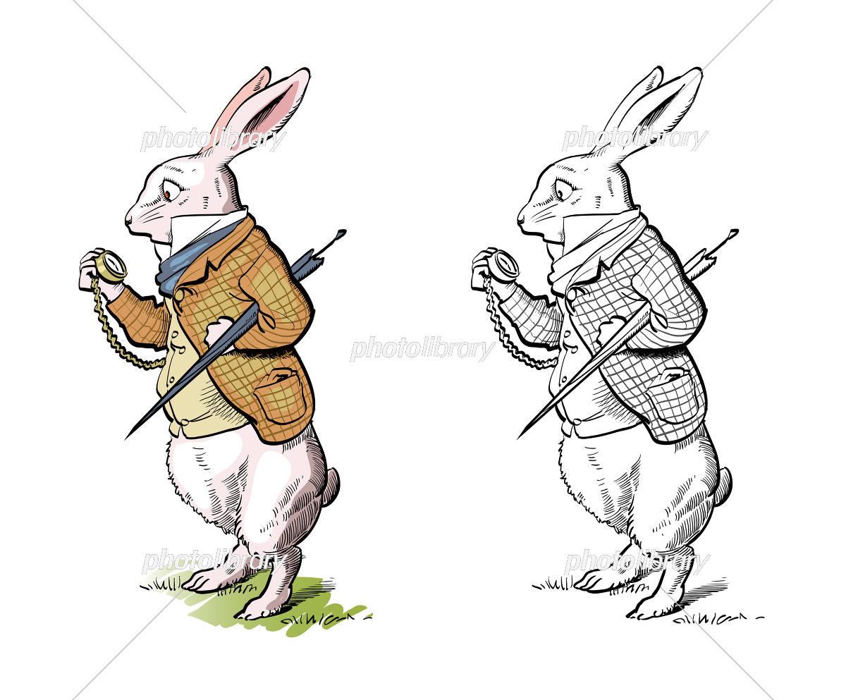 不思議の国のアリスのウサギ イラスト素材 4637713 フォトライブ