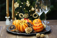 Christmas table coordination Stock photo [4634639] Orange