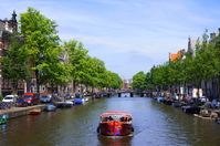 City view of Amsterdam canal canal
