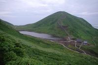 Akita Komagatake summit of Amida pond and mountain hut Stock photo [4640954] Akita