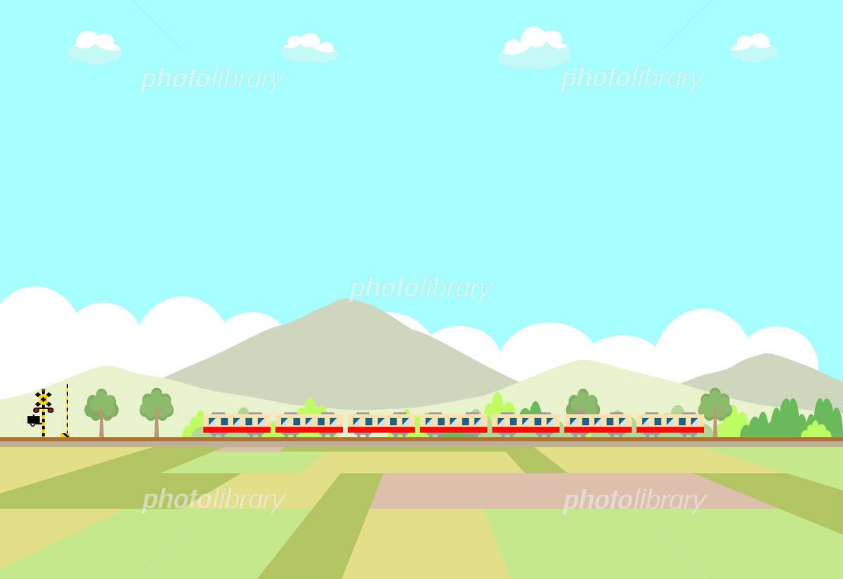 電車 田園風景 イラスト素材 4707485 フォトライブラリー Photolibrary