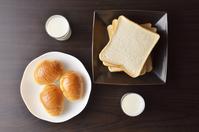 Bread breakfast image bird's-eye view Stock photo [4706921] Bread