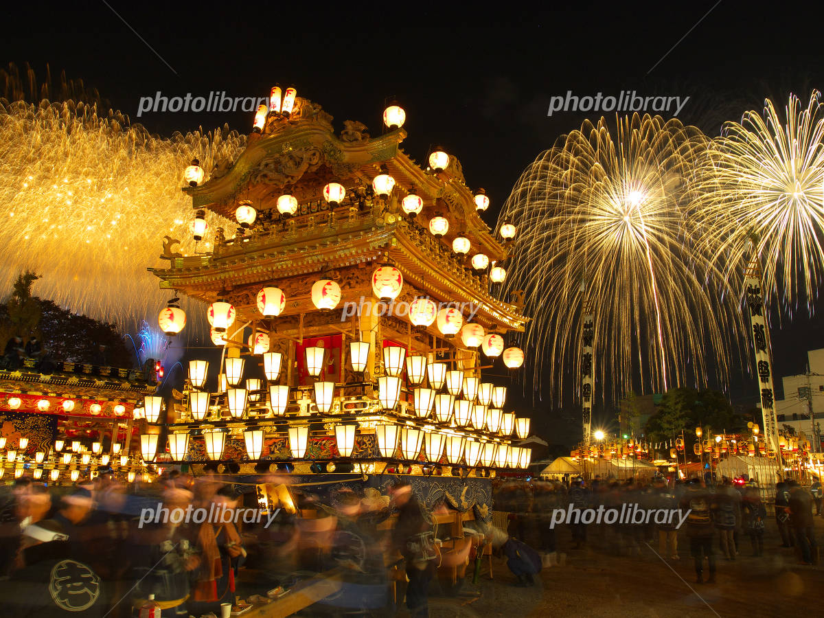 Ryuhoko and fireworks Photo