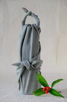 Furoshiki bottles wrapped Stock photo [4772352] Wrapping