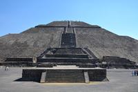 Pyramids of Mexico Teotihuacan ruins sun Stock photo [4853721] Mexico